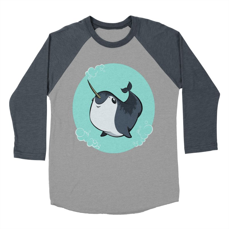 Mr. Narwhal Men's Baseball Triblend T-Shirt by westinchurch's Artist Shop