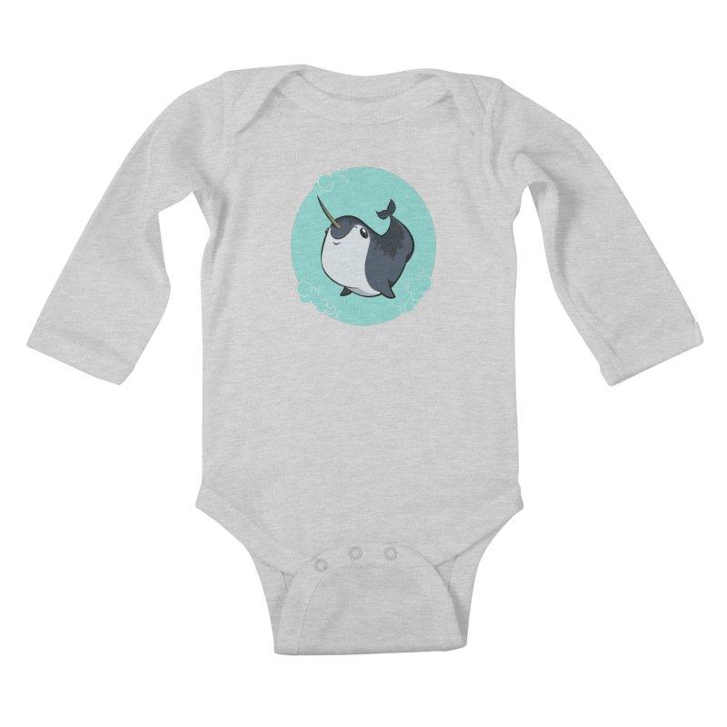 Mr. Narwhal Kids Baby Longsleeve Bodysuit by westinchurch's Artist Shop