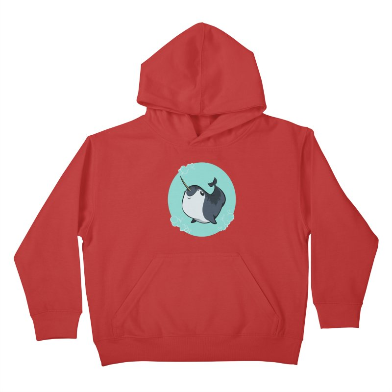 Mr. Narwhal Kids Pullover Hoody by westinchurch's Artist Shop