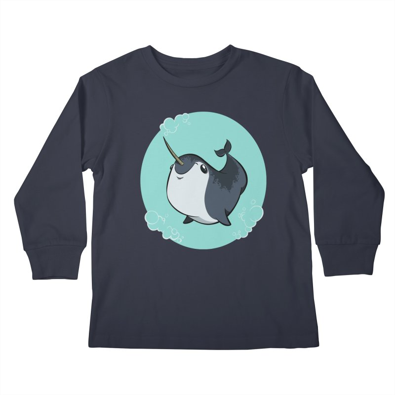 Mr. Narwhal Kids Longsleeve T-Shirt by westinchurch's Artist Shop
