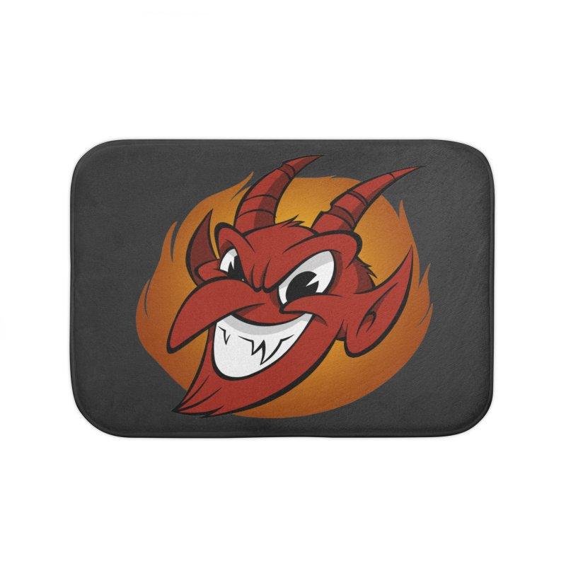 Red Devil! Home Bath Mat by westinchurch's Artist Shop