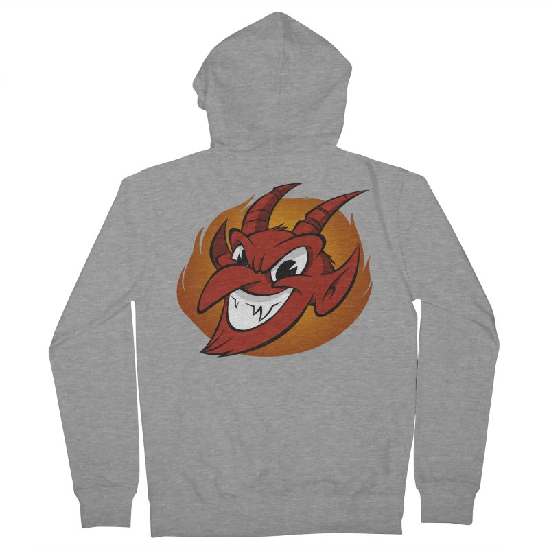 Red Devil! Men's Zip-Up Hoody by westinchurch's Artist Shop