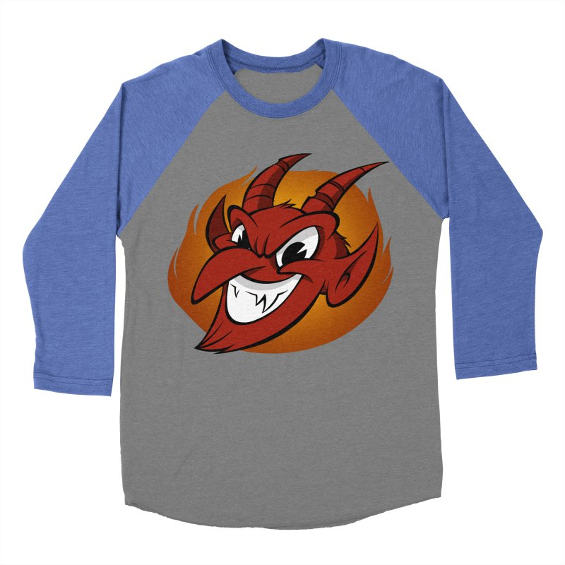 Red Devil! Men's Baseball Triblend T-Shirt by westinchurch's Artist Shop
