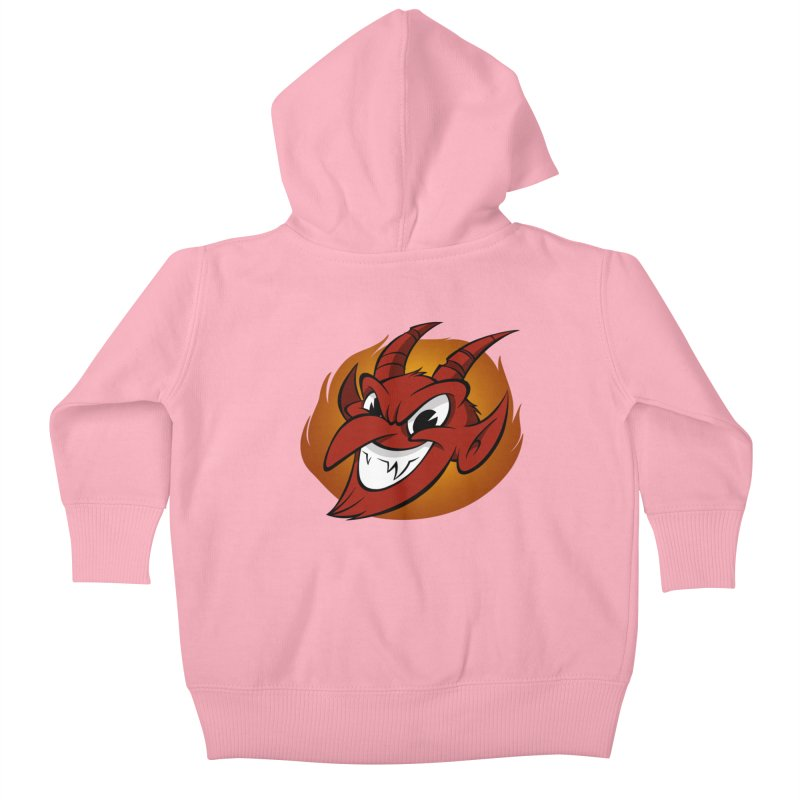 Red Devil! Kids Baby Zip-Up Hoody by westinchurch's Artist Shop