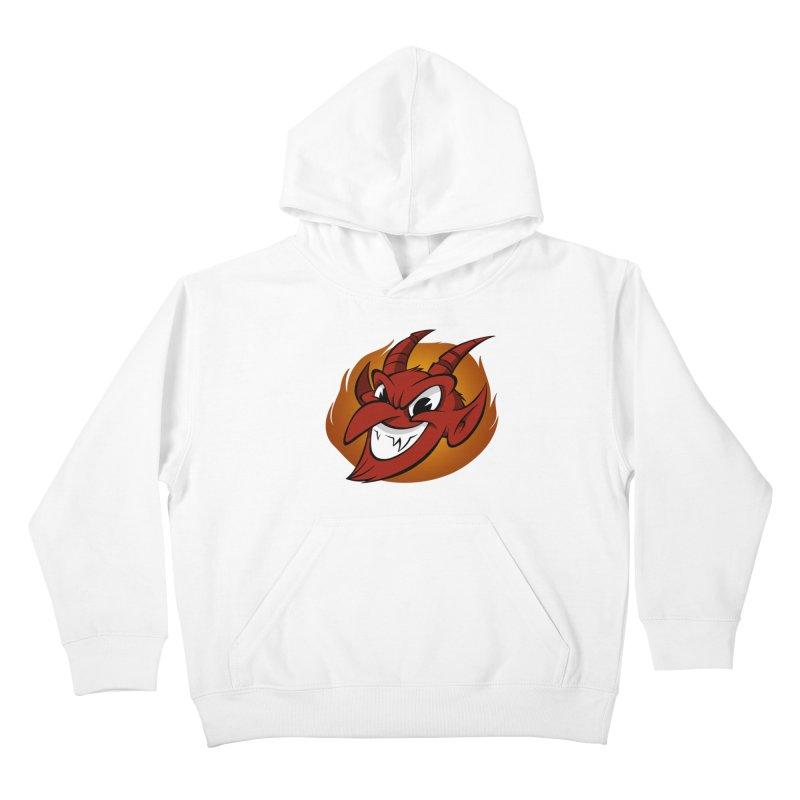 Red Devil! Kids Pullover Hoody by westinchurch's Artist Shop