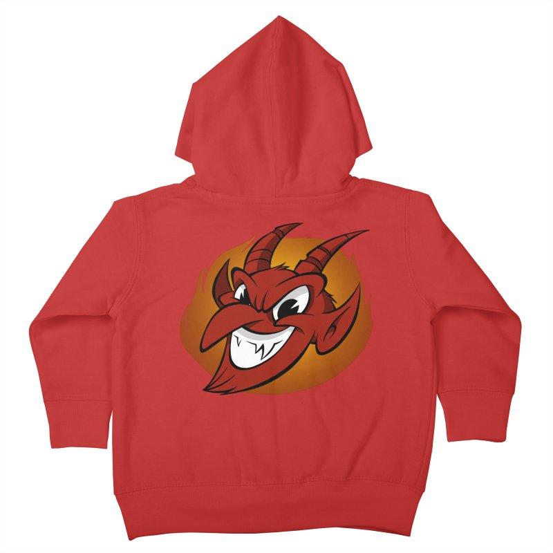 Red Devil! Kids Toddler Zip-Up Hoody by westinchurch's Artist Shop