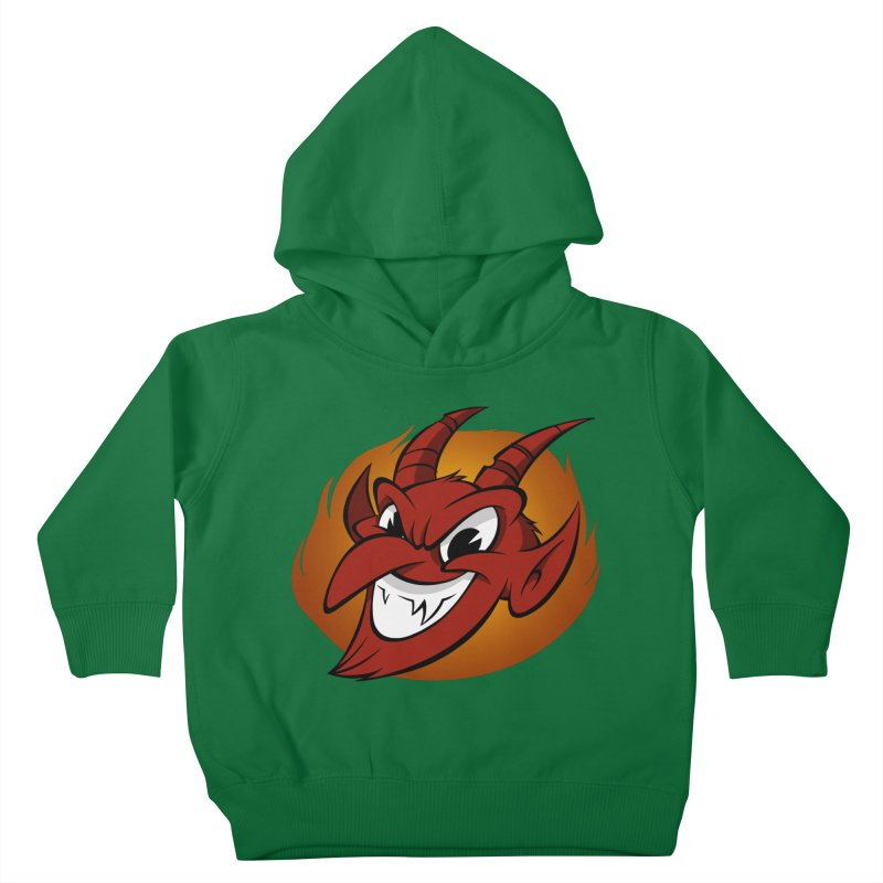 Red Devil! Kids Toddler Pullover Hoody by westinchurch's Artist Shop