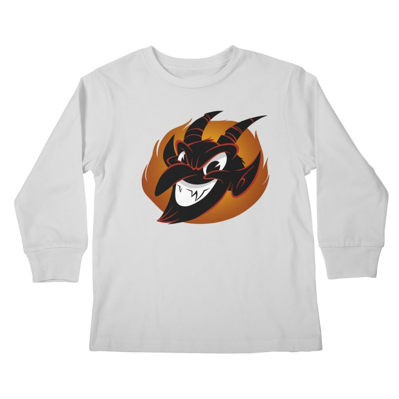 1930s Devil! Kids Longsleeve T-Shirt by westinchurch's Artist Shop