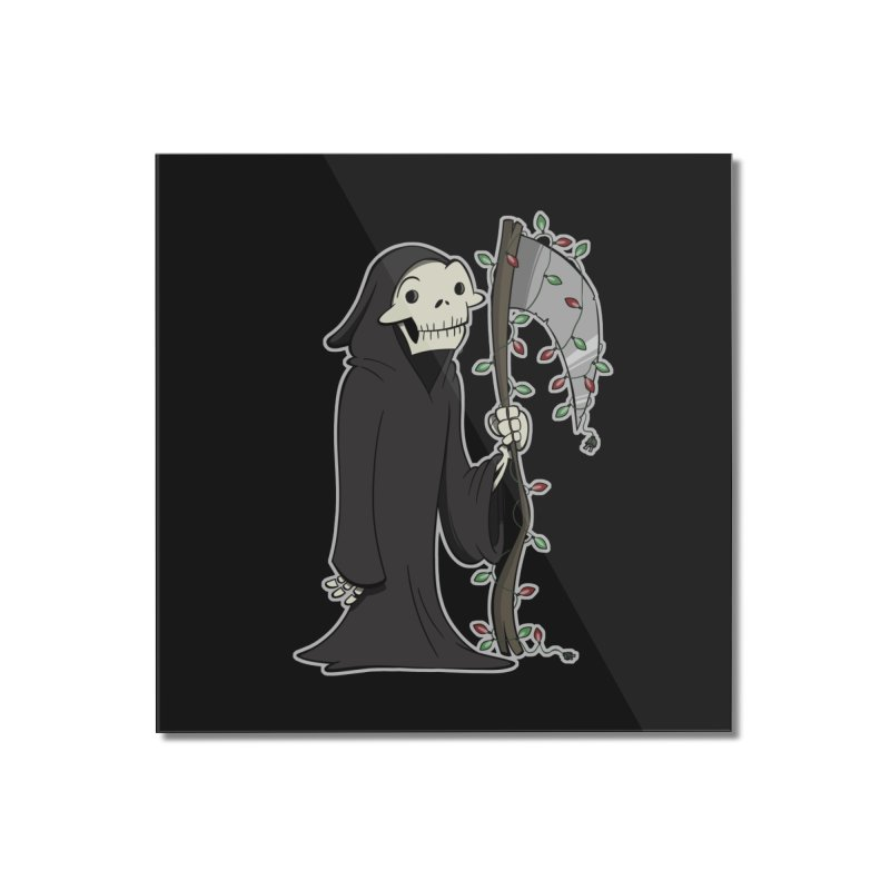 Christmas Reaper Home Mounted Acrylic Print by westinchurch's Artist Shop