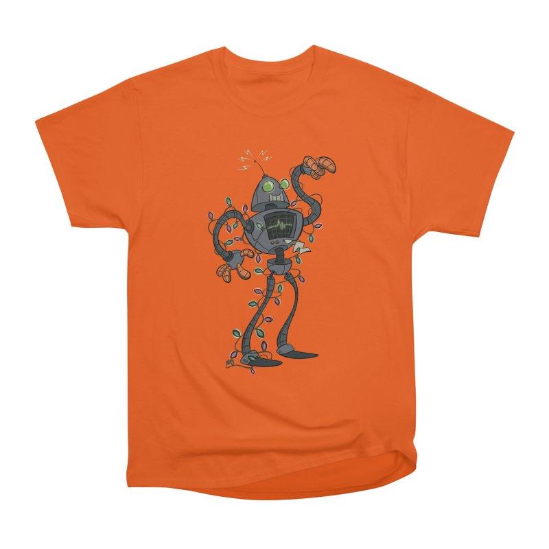 Christmas Robot Women's Heavyweight Unisex T-Shirt by westinchurch's Artist Shop