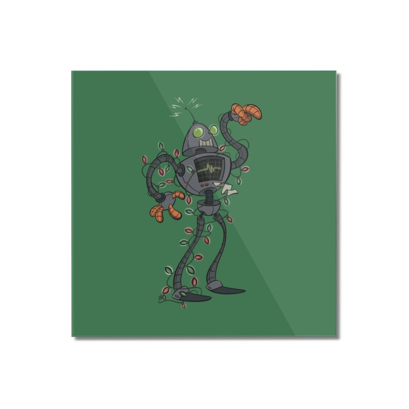 Christmas Robot Home Mounted Acrylic Print by westinchurch's Artist Shop