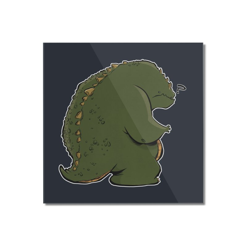 Godzilla? Home Mounted Acrylic Print by westinchurch's Artist Shop