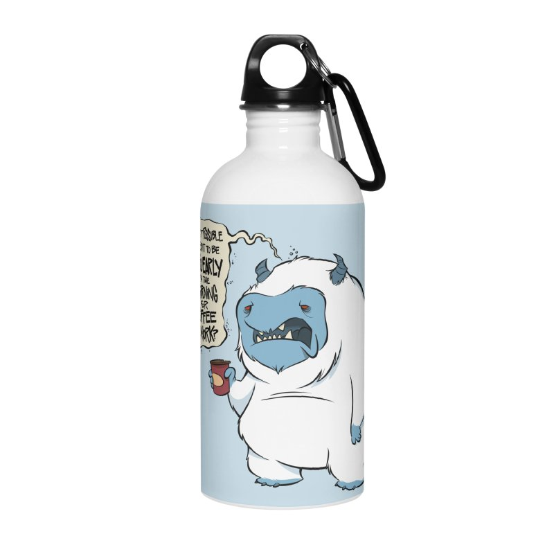 Coffee Yeti Accessories Water Bottle by westinchurch's Artist Shop