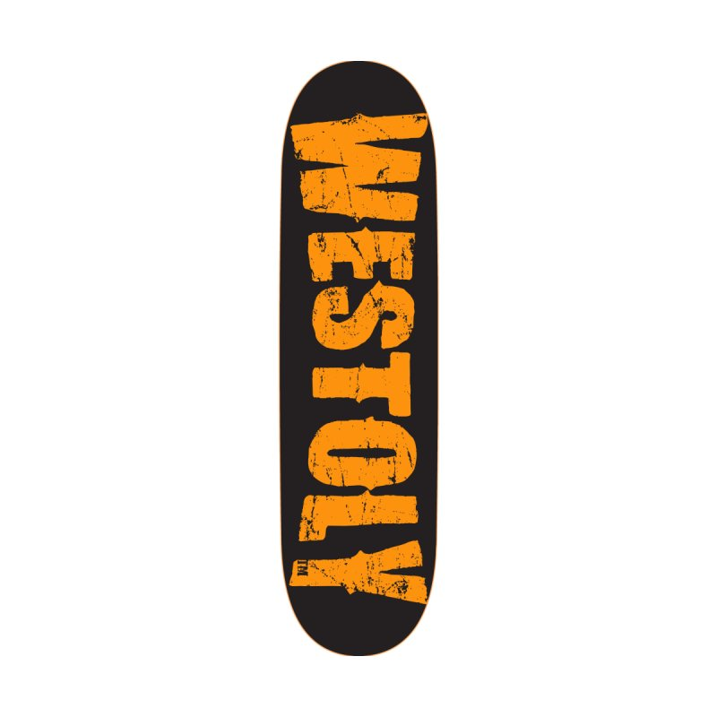 Westoly Skateboard. Orange on Black. Accessories Skateboard by Westoly