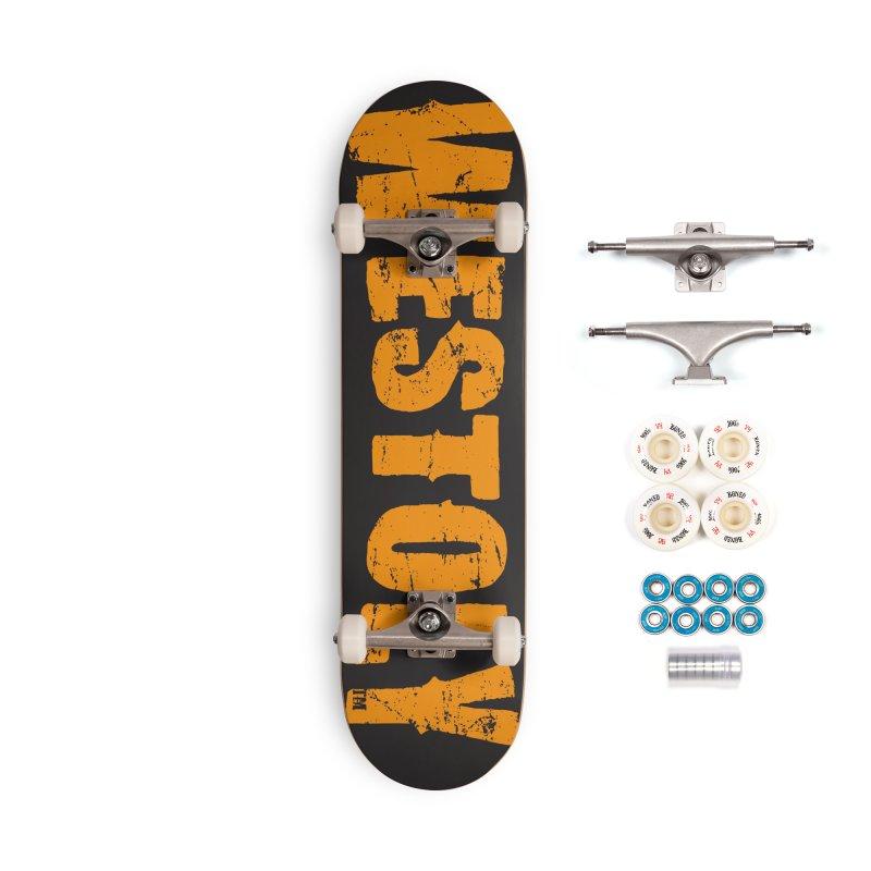 Westoly Skateboard. Orange on Black. Accessories Complete - Premium Skateboard by Westoly Artist Shop