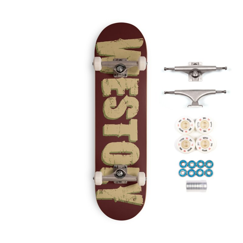 Westoly Skateboard - Brown and Red Accessories Complete - Premium Skateboard by Westoly Artist Shop