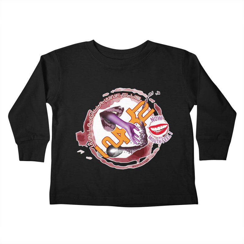 Wine Club with Mouth Feel Kids Toddler Longsleeve T-Shirt by Westoly