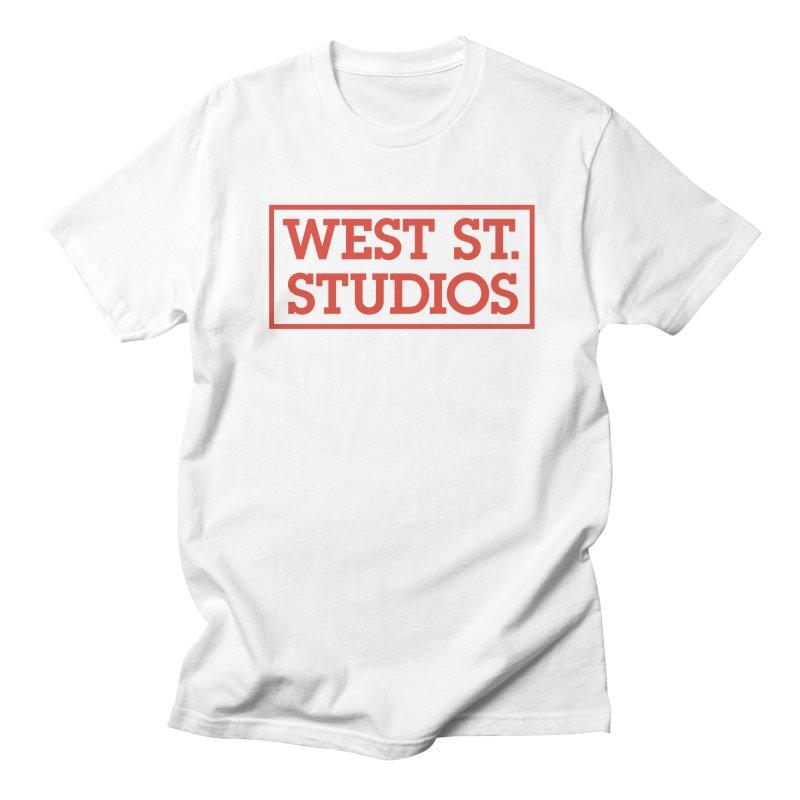 West St. Studios Logo, Red Men's T-shirt by West St. Studios' Artist Shop