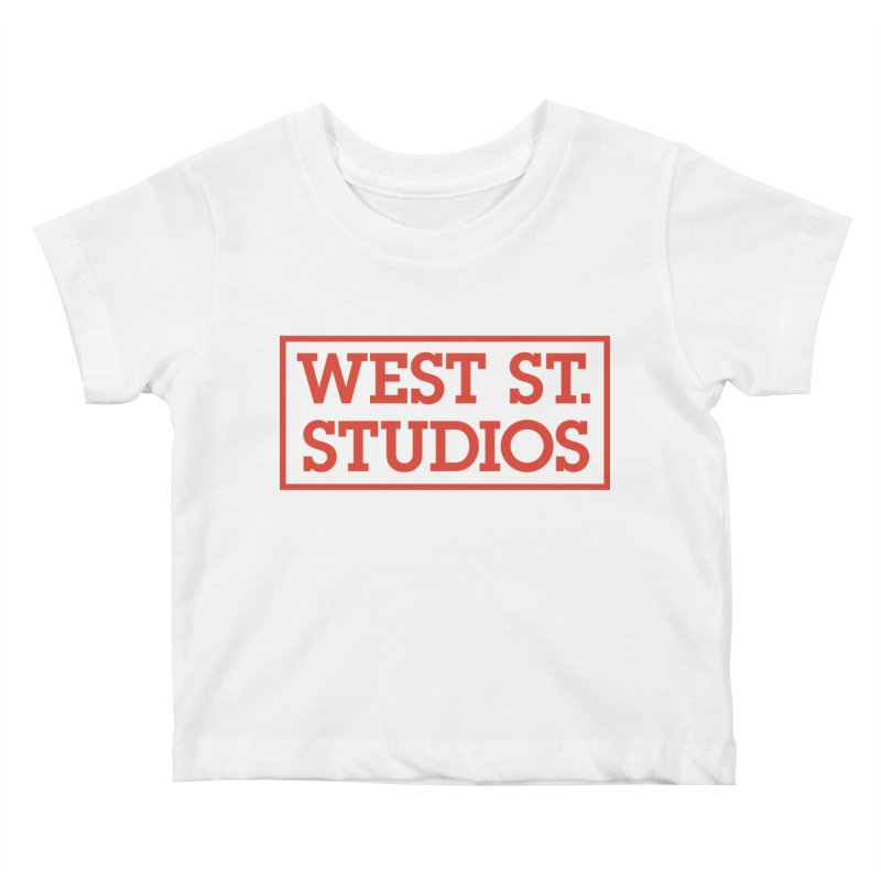 West St. Studios Logo, Red Kids Baby T-Shirt by West St. Studios' Artist Shop