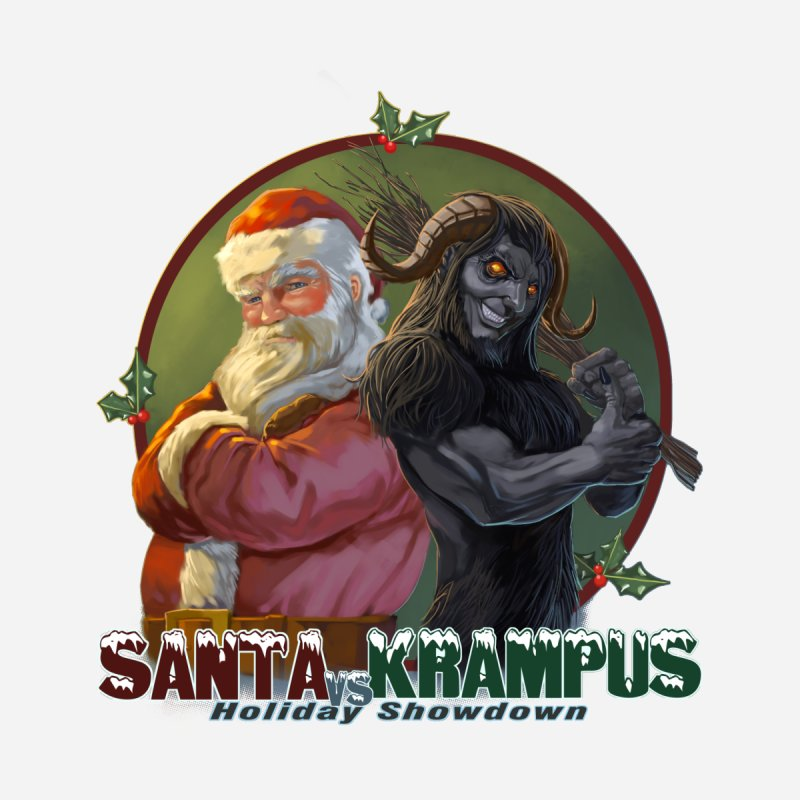 Santa vs Krampus Men's T-Shirt by weswongwithyou's Artist Shop