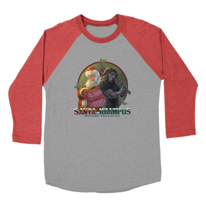 Santa vs Krampus Men's Baseball Triblend Longsleeve T-Shirt by weswongwithyou's Artist Shop