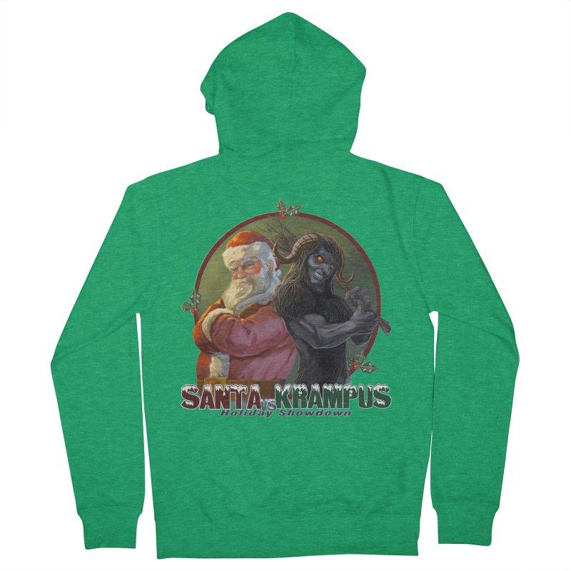 Santa vs Krampus Men's Zip-Up Hoody by weswongwithyou's Artist Shop