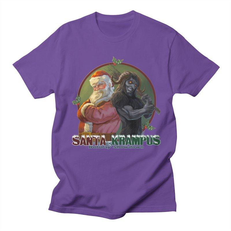Santa vs Krampus Women's Regular Unisex T-Shirt by weswongwithyou's Artist Shop