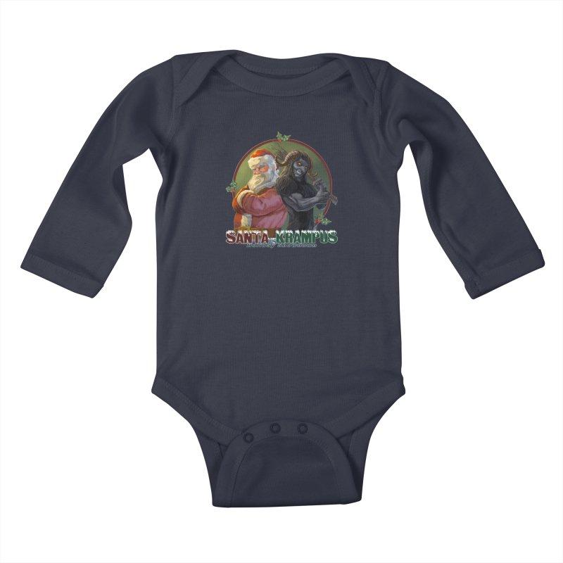 Santa vs Krampus Kids Baby Longsleeve Bodysuit by weswongwithyou's Artist Shop