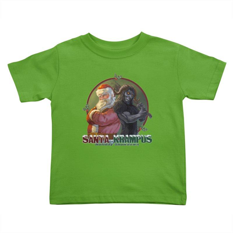 Santa vs Krampus Kids Toddler T-Shirt by weswongwithyou's Artist Shop
