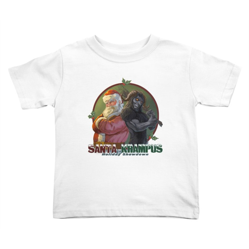 Santa vs Krampus Kids Toddler T-Shirt by weswongwithyou's Artist Shop