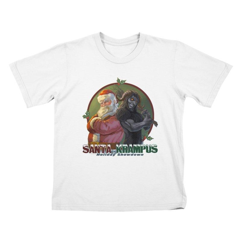 Santa vs Krampus Kids T-Shirt by weswongwithyou's Artist Shop