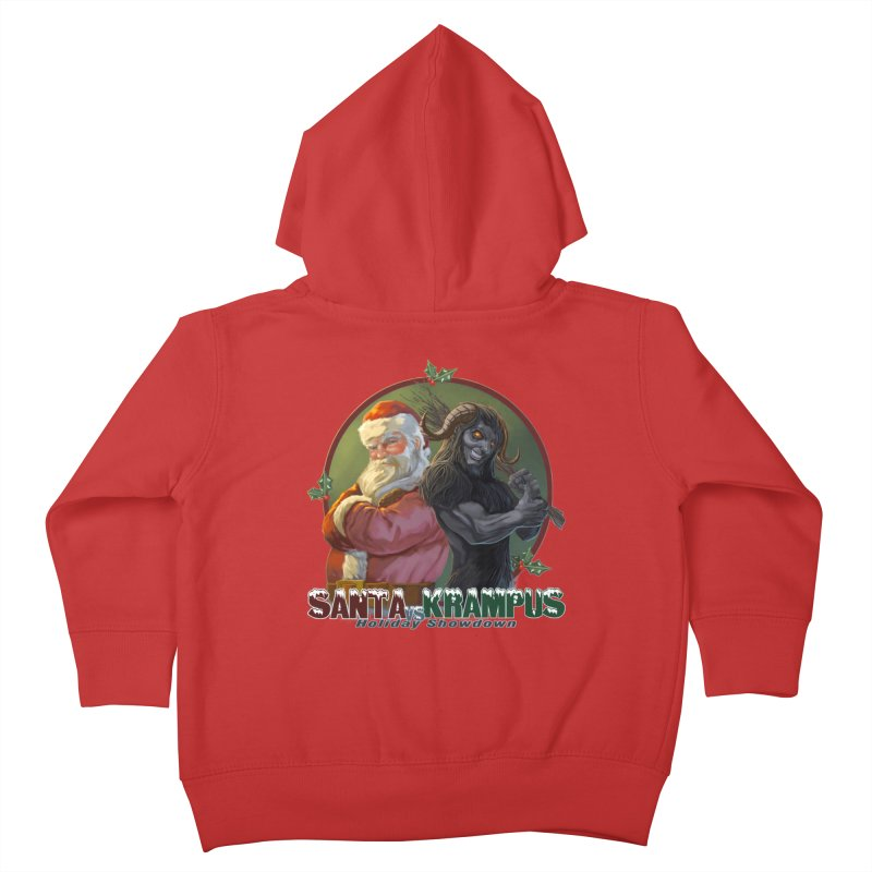 Santa vs Krampus Kids Toddler Zip-Up Hoody by weswongwithyou's Artist Shop