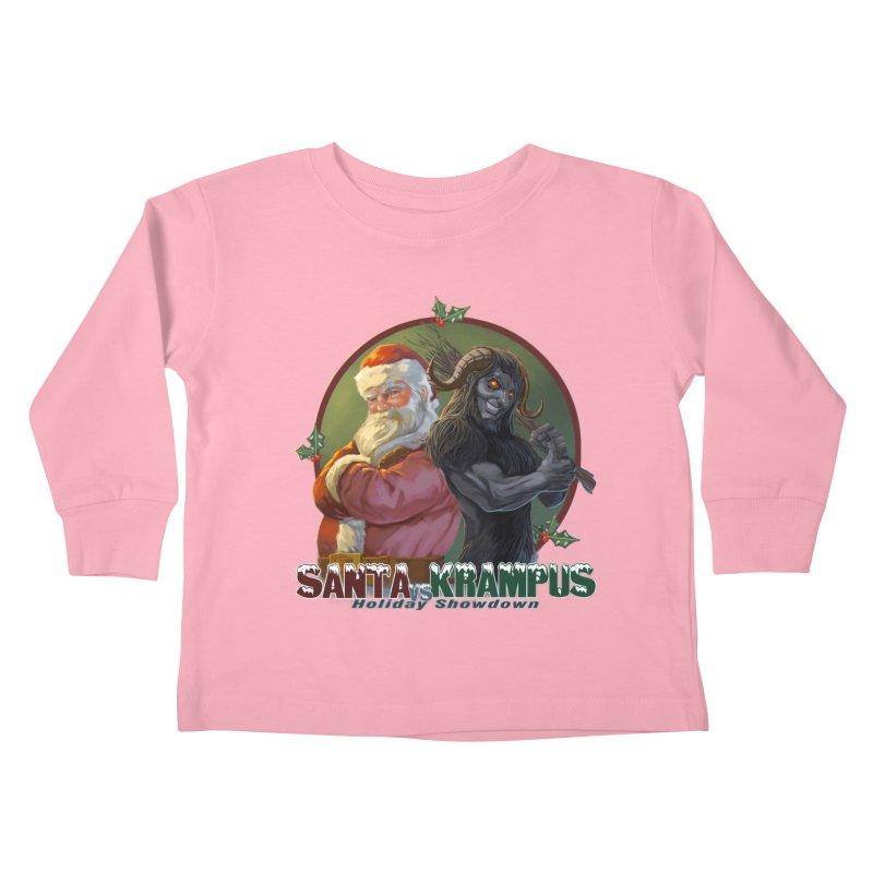 Santa vs Krampus Kids Toddler Longsleeve T-Shirt by weswongwithyou's Artist Shop