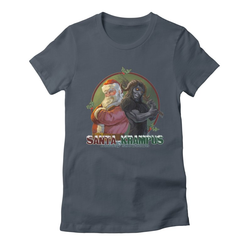 Santa vs Krampus Women's T-Shirt by weswongwithyou's Artist Shop
