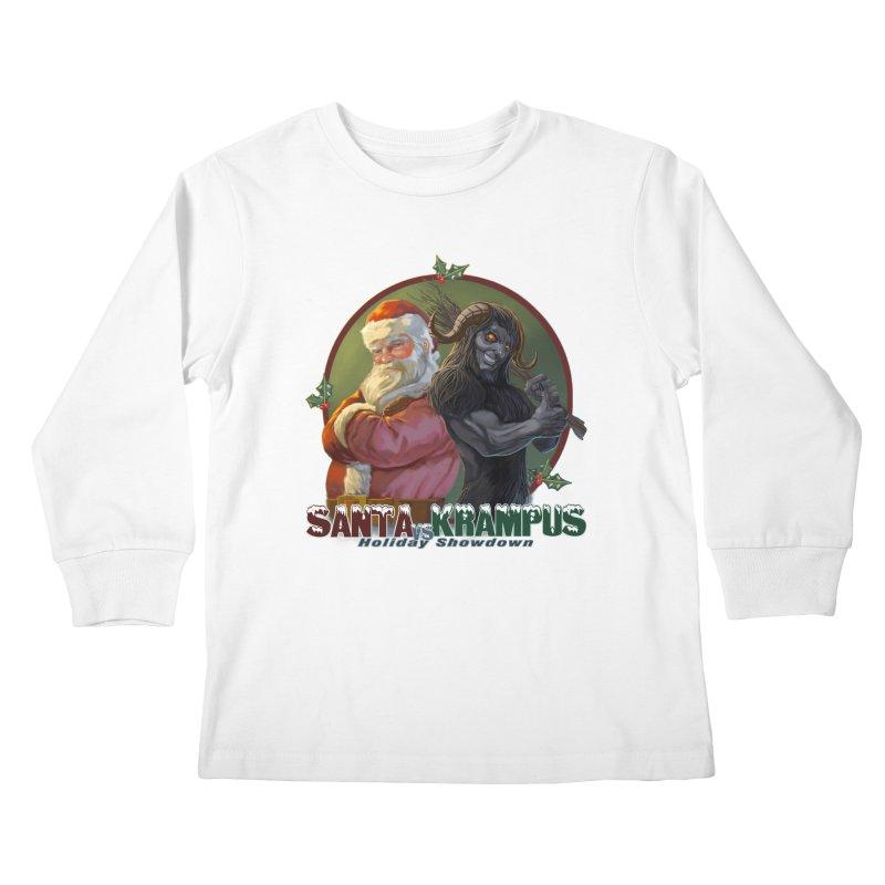 Santa vs Krampus Kids Longsleeve T-Shirt by weswongwithyou's Artist Shop