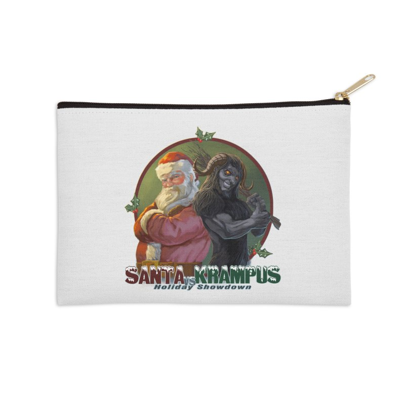 Santa vs Krampus Accessories Zip Pouch by weswongwithyou's Artist Shop