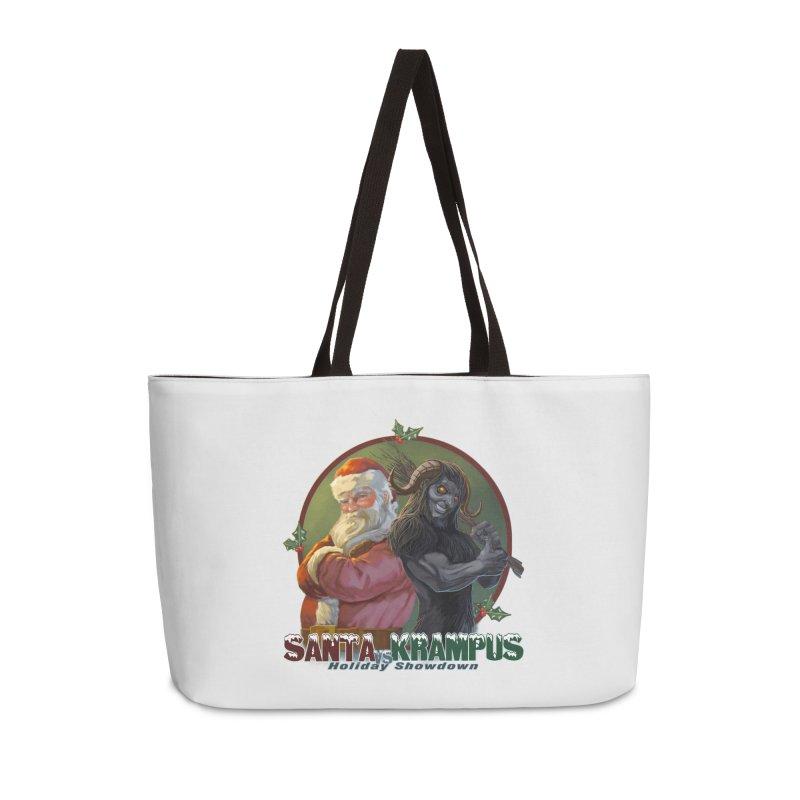 Santa vs Krampus Accessories Weekender Bag Bag by weswongwithyou's Artist Shop
