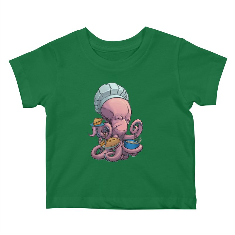 Octopie Kids Baby T-Shirt by weswongwithyou's Artist Shop