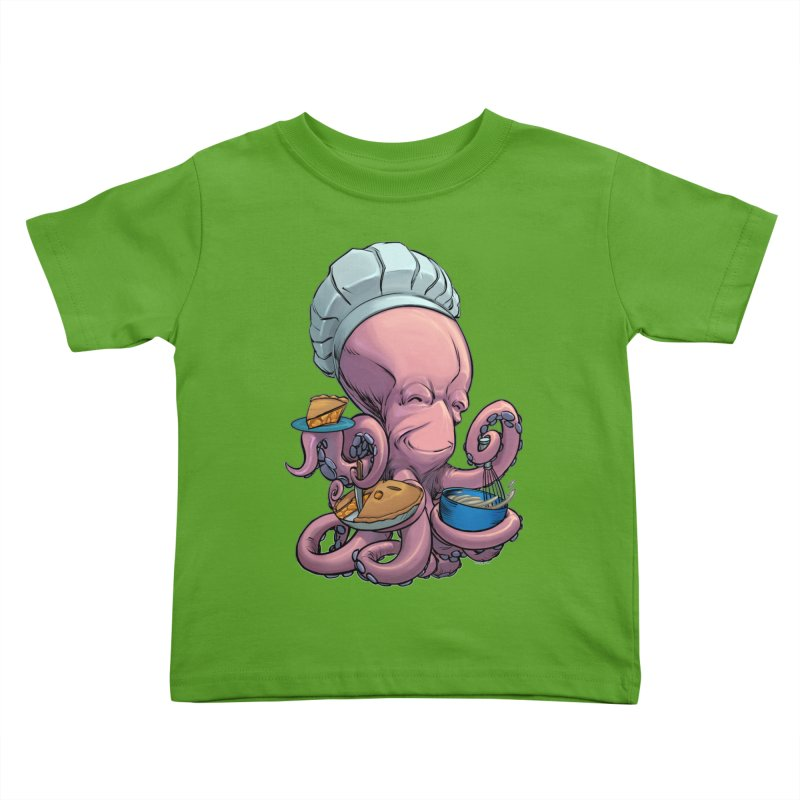 Octopie Kids Toddler T-Shirt by weswongwithyou's Artist Shop