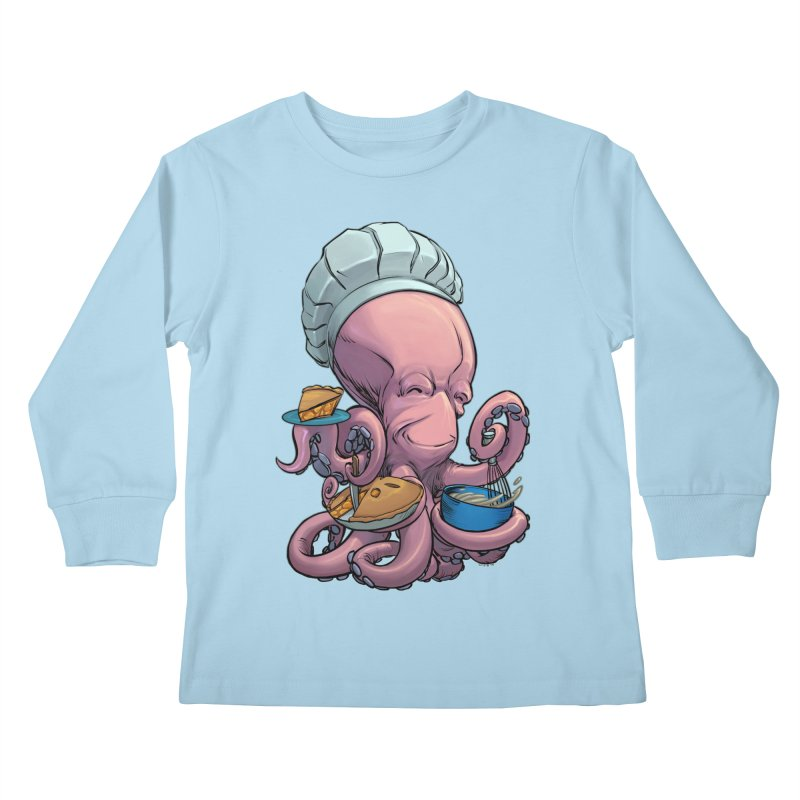 Octopie Kids Longsleeve T-Shirt by weswongwithyou's Artist Shop