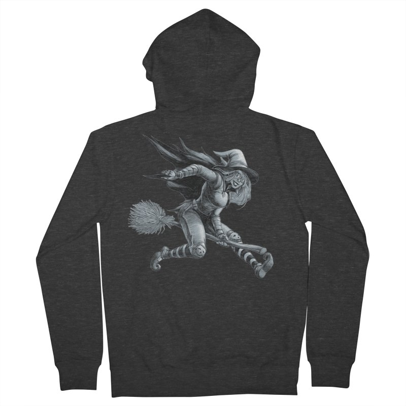Racing Witch Men's Zip-Up Hoody by weswongwithyou's Artist Shop