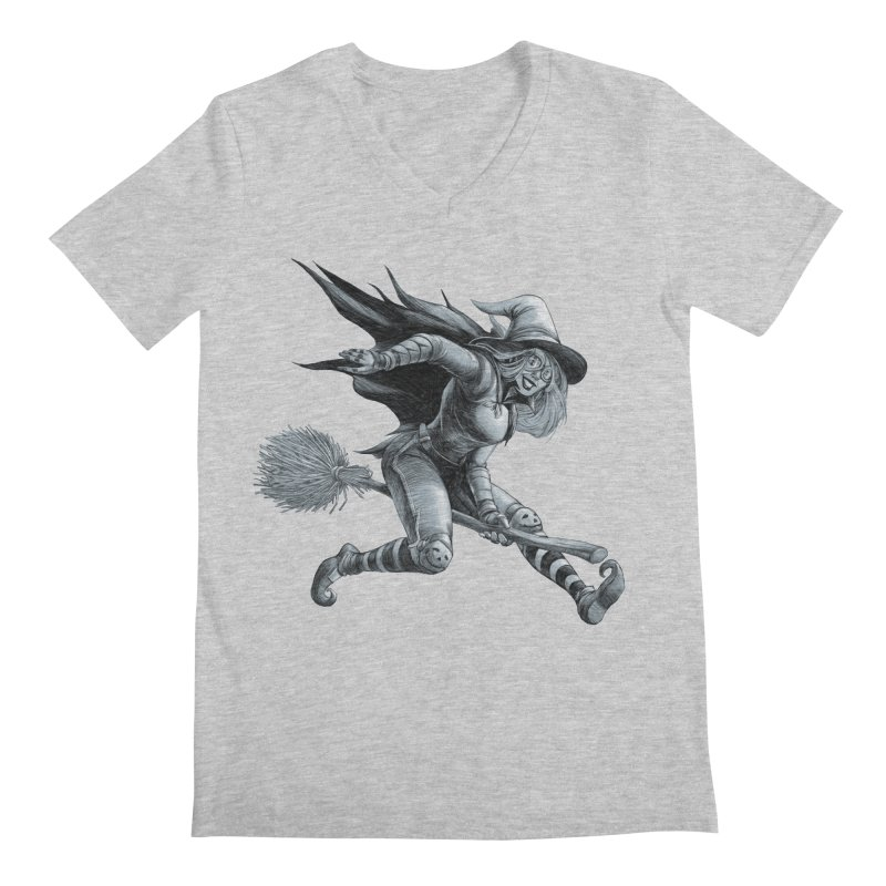 Racing Witch Men's V-Neck by weswongwithyou's Artist Shop