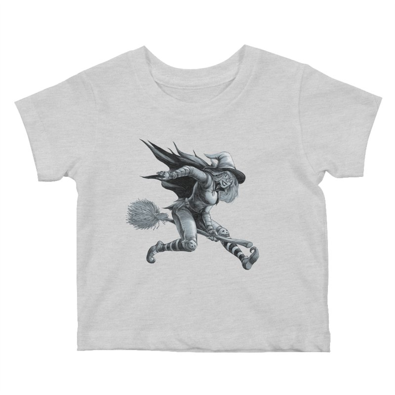 Racing Witch Kids Baby T-Shirt by weswongwithyou's Artist Shop