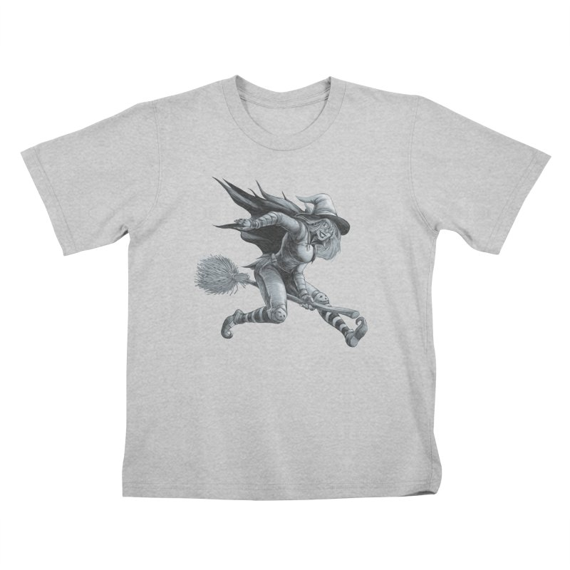 Racing Witch Kids T-Shirt by weswongwithyou's Artist Shop