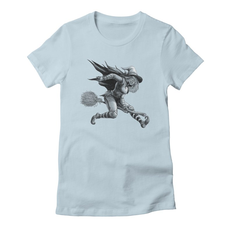 Racing Witch Women's T-Shirt by weswongwithyou's Artist Shop