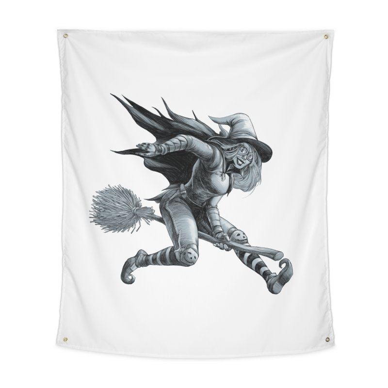 Racing Witch Home Tapestry by weswongwithyou's Artist Shop