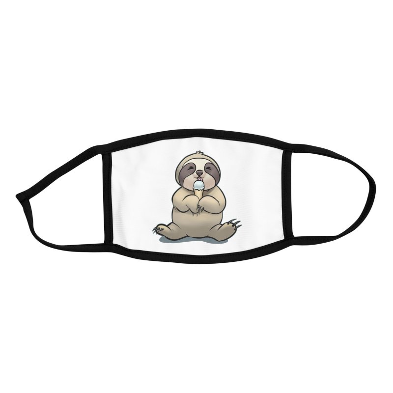 Sloth with Ice Cream Accessories Face Mask by weswongwithyou's Artist Shop