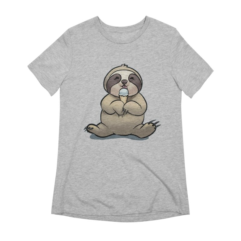 Sloth with Ice Cream Women's Extra Soft T-Shirt by weswongwithyou's Artist Shop