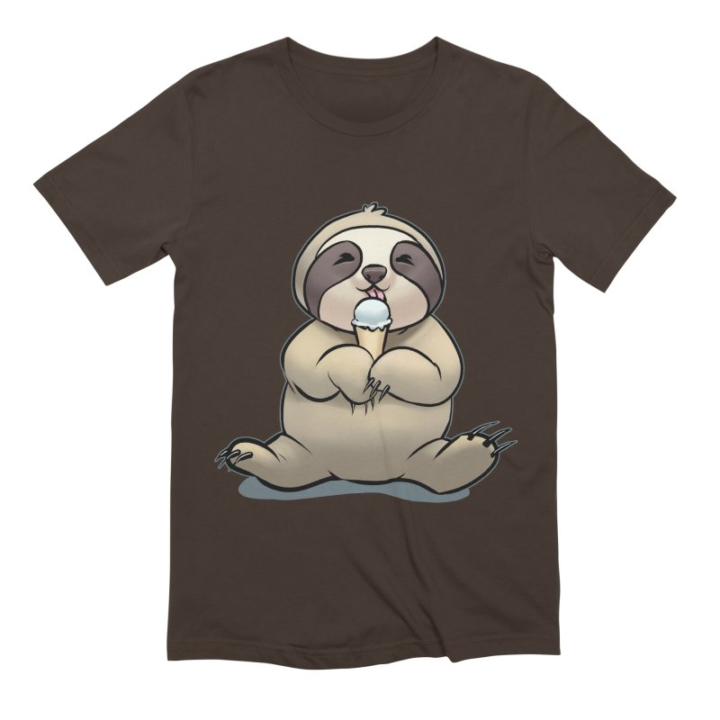 Sloth with Ice Cream Men's Extra Soft T-Shirt by weswongwithyou's Artist Shop