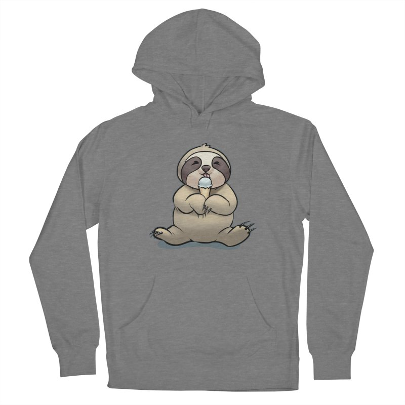 Sloth with Ice Cream Men's Pullover Hoody by weswongwithyou's Artist Shop